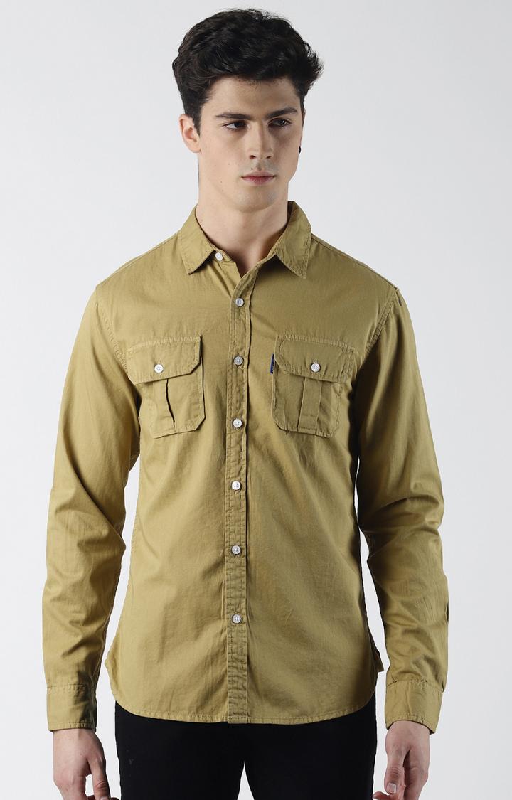 Blue Saint | Khaki Solid Casual Shirt