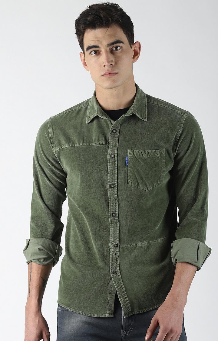 Blue Saint | Green Solid Casual Shirt