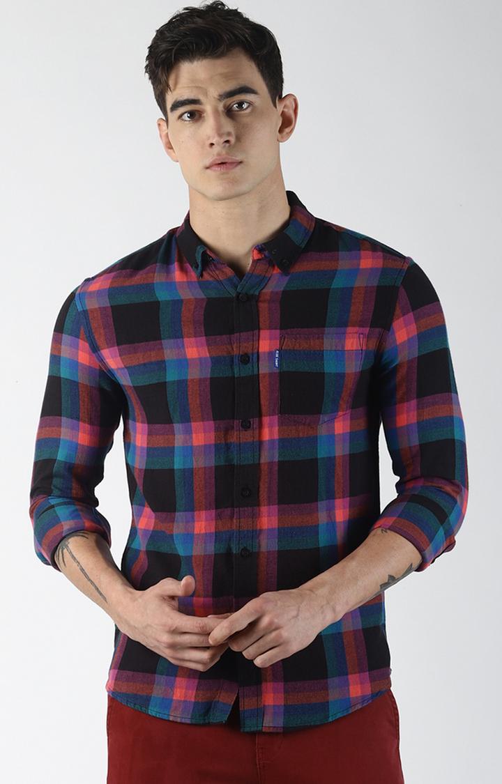 Blue Saint   Multicoloured Checked Casual Shirt