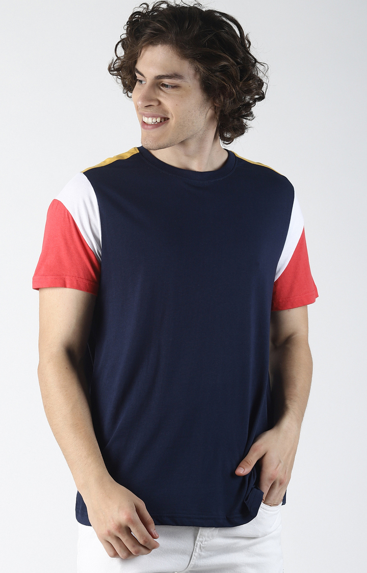 Blue Saint | Navy Colourblock T-Shirt