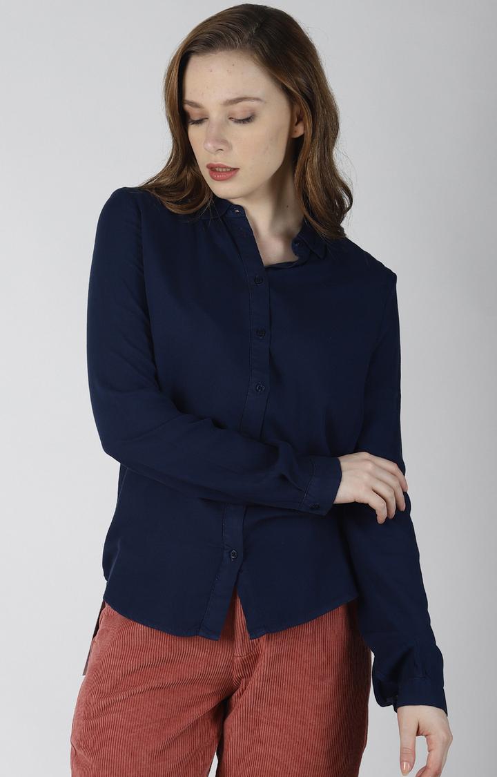 Blue Saint | Navy Solid Casual Shirt