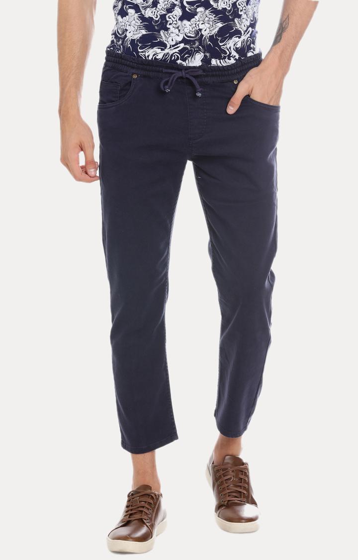 Blue Saint   Blue Solid Cropped Jeans