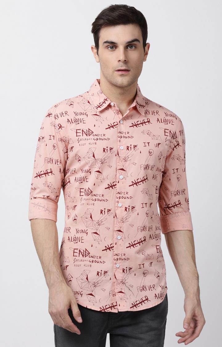 Blue Saint   Pink Printed Casual Shirt