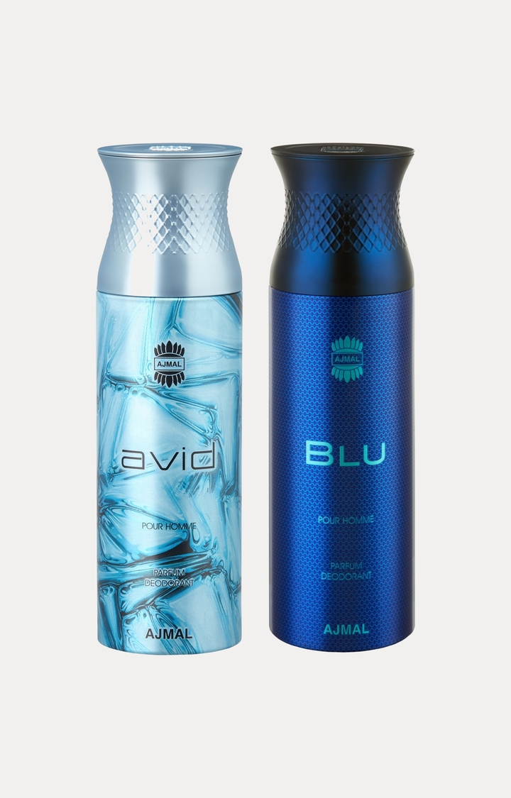 Ajmal | Avid and Blu Deodorants - Pack of 2