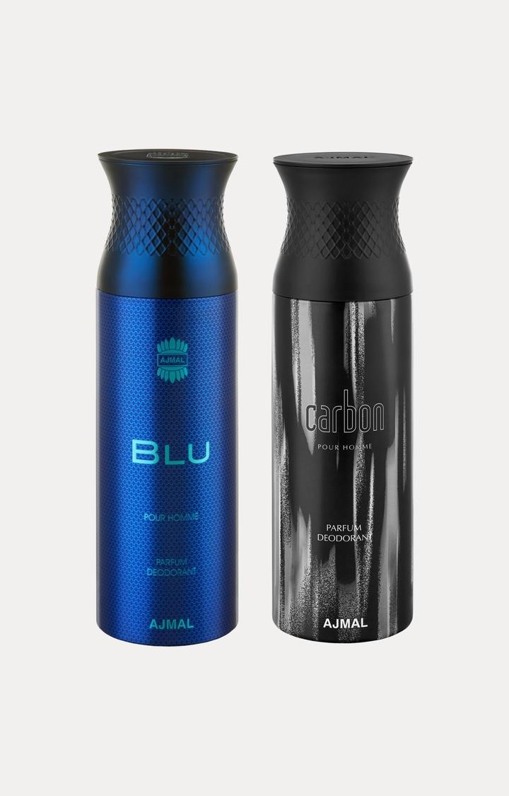Ajmal | Blu and Carbon Deodorants - Pack of 2