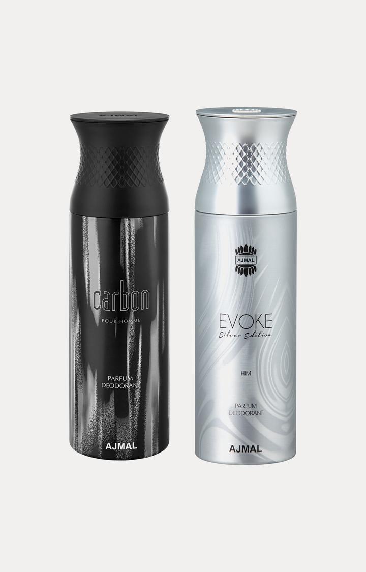 Ajmal | Carbon and Evoke Silver Him Deodorants - Pack of 2