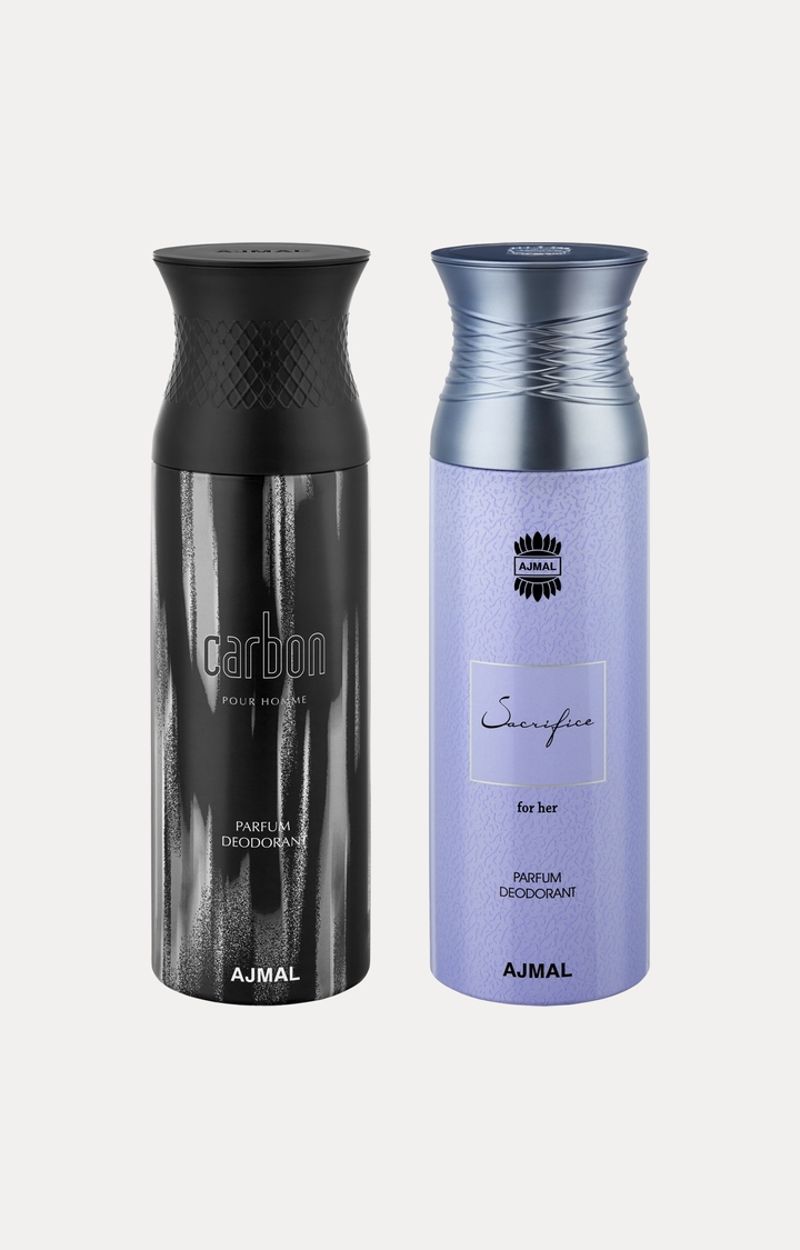 Ajmal | Carbon and Sacrifice Her Deodorants - Pack of 2