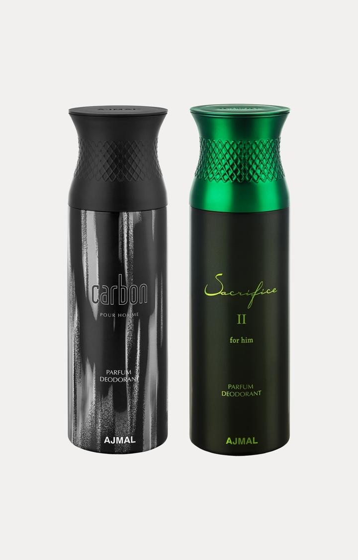 Ajmal | Carbon and Sacrifice II Him Deodorants - Pack of 2