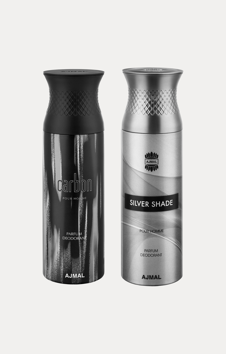 Ajmal | Carbon and Silver Shade Deodorants - Pack of 2