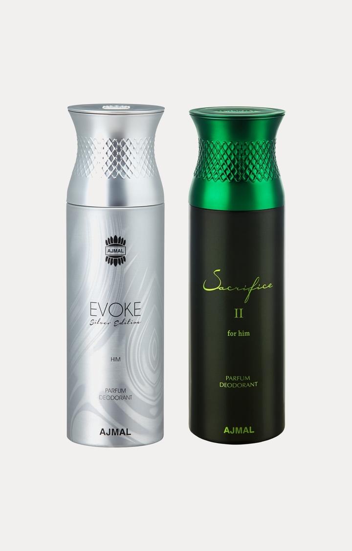 Ajmal | Evoke Silver Him and Sacrifice II Him Deodorants - Pack of 2
