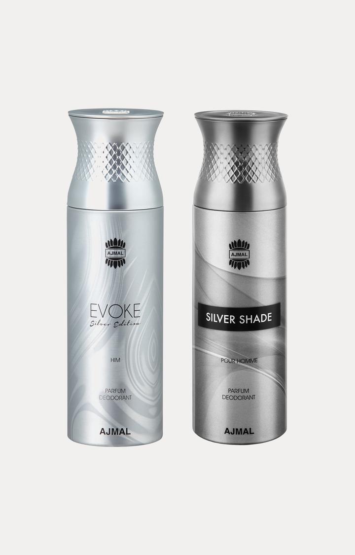 Ajmal | Evoke Silver Him and Silver Shade Deodorants - Pack of 2