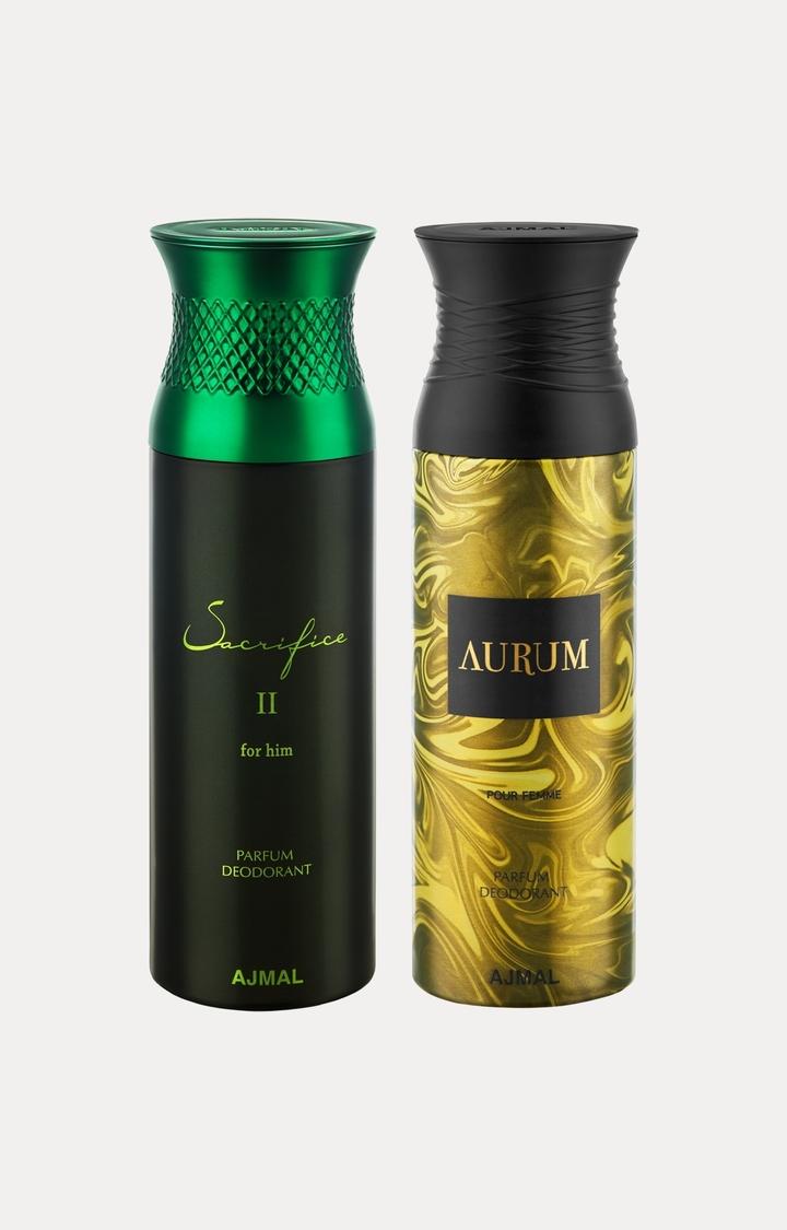 Ajmal   Sacrifice II Him and Aurum Deodorants - Pack of 2