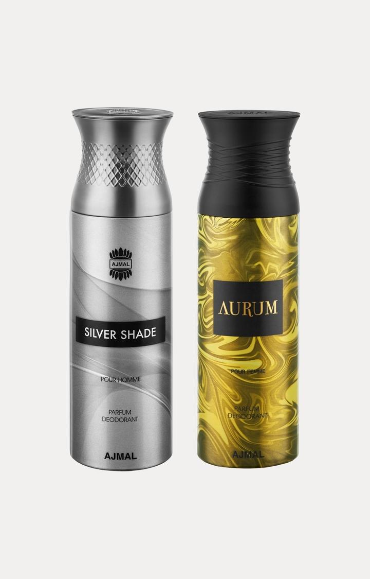 Ajmal | Silver Shade and Aurum Deodorants - Pack of 2