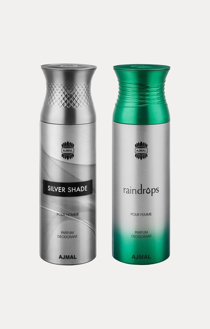 Ajmal | Silver Shade and Raindrops Deodorants - Pack of 2