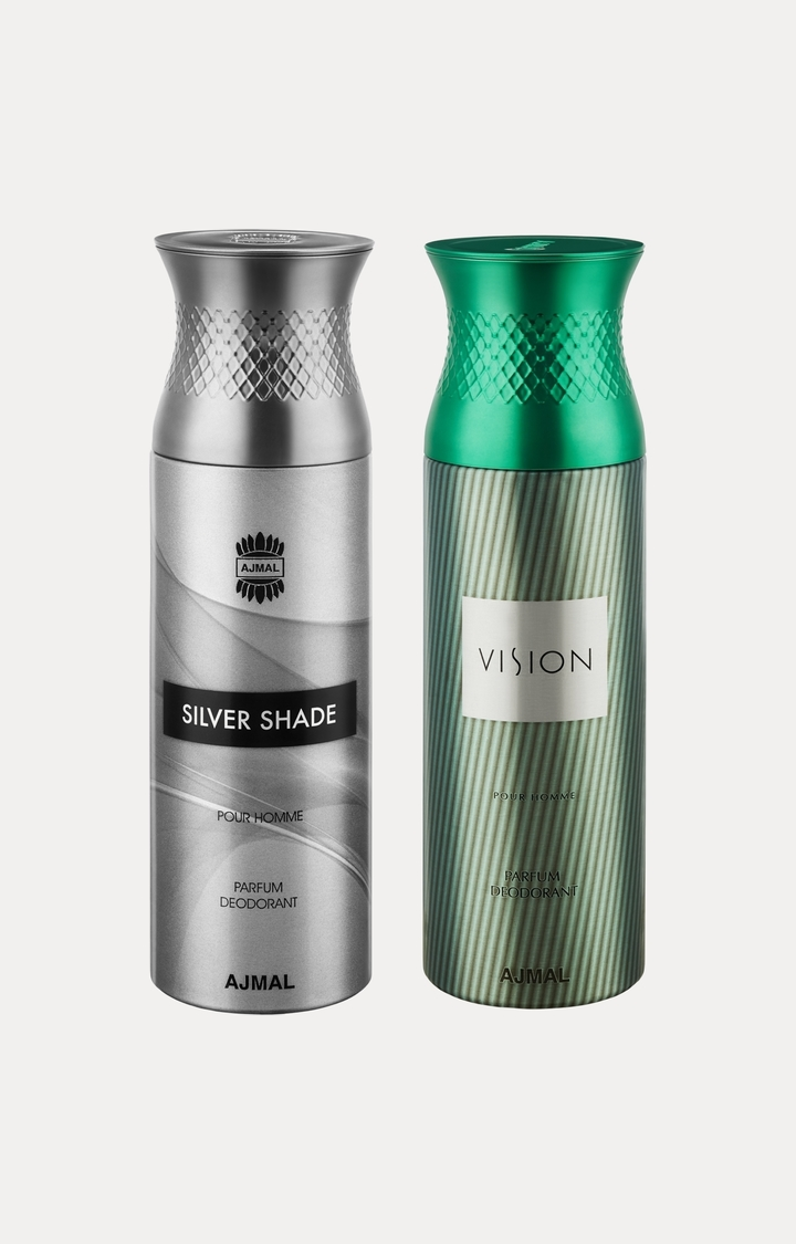 Ajmal | Silver Shade and Vision Deodorants - Pack of 2