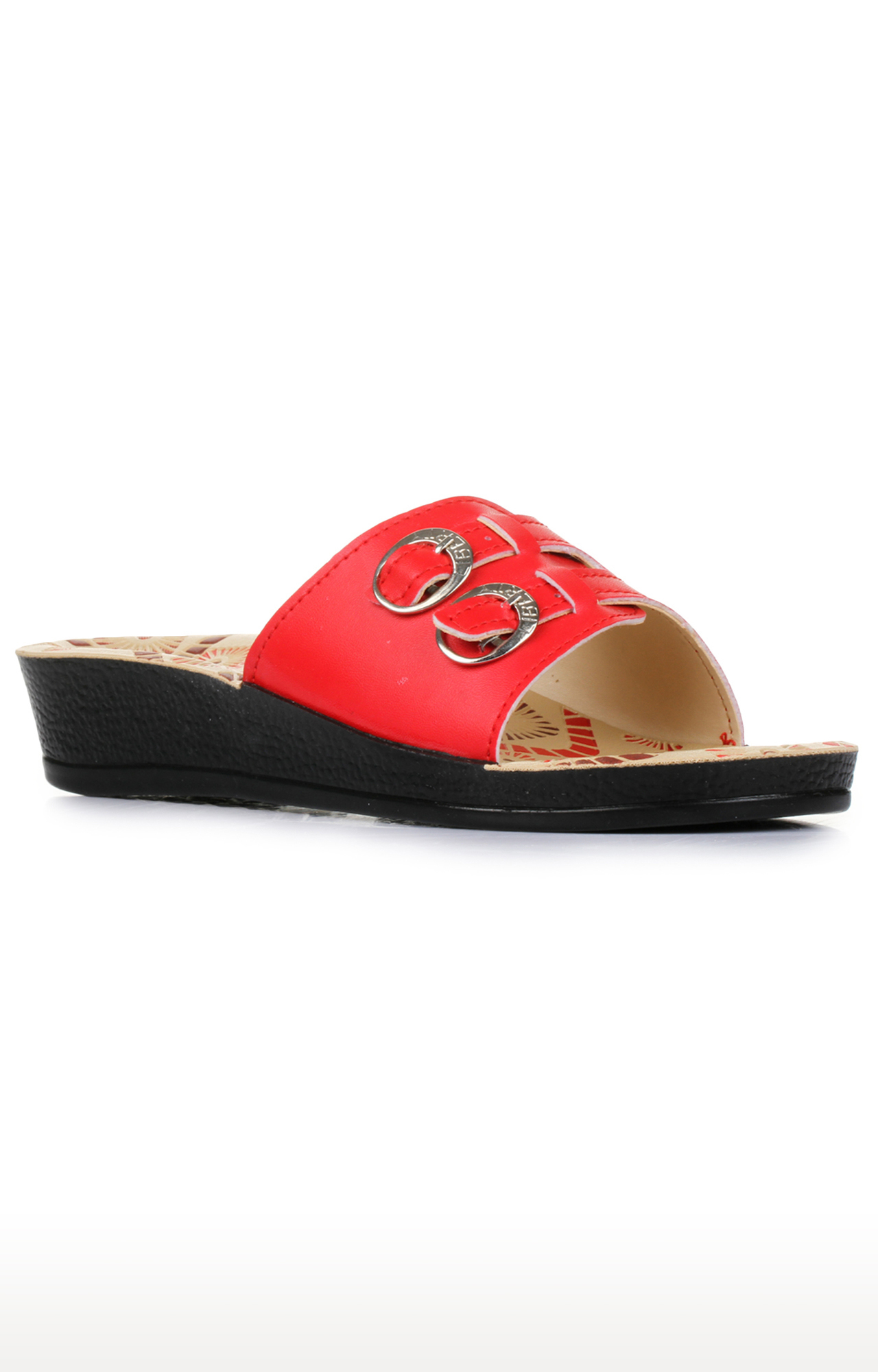 Liberty | A-HA by Liberty Red Slip-ons