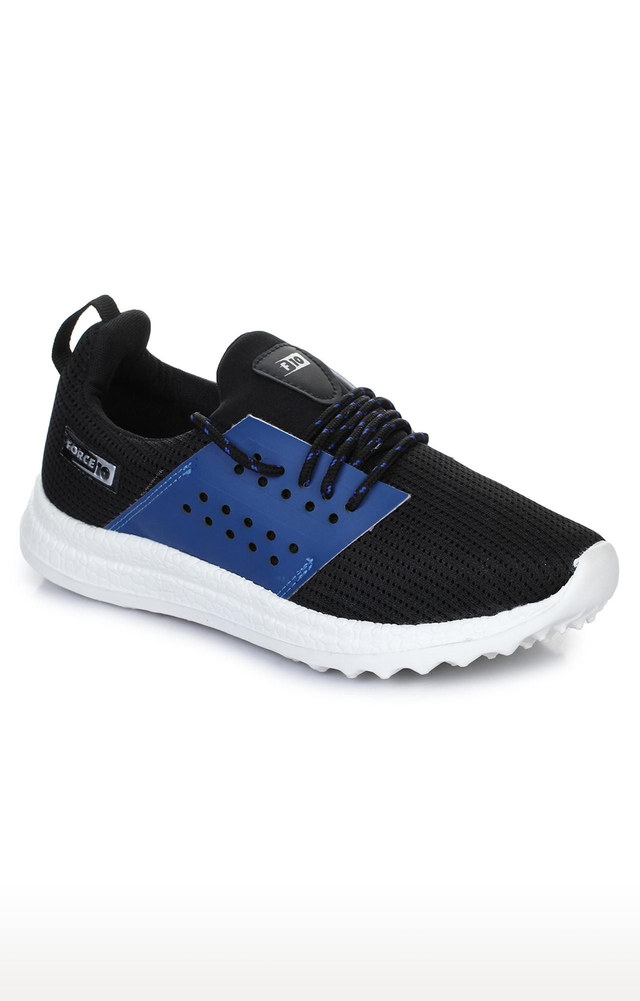 Liberty   Force 10 by Liberty Black Lace-up Sports Shoes
