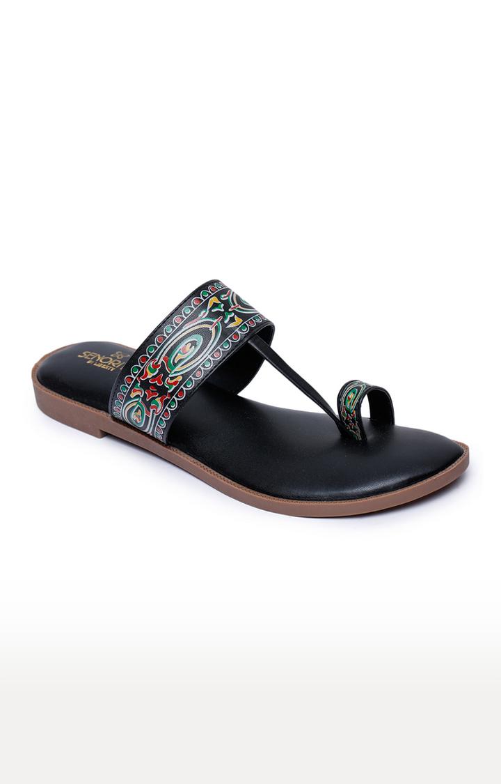 Liberty   Senorita by Liberty Black Ethnic Sandals