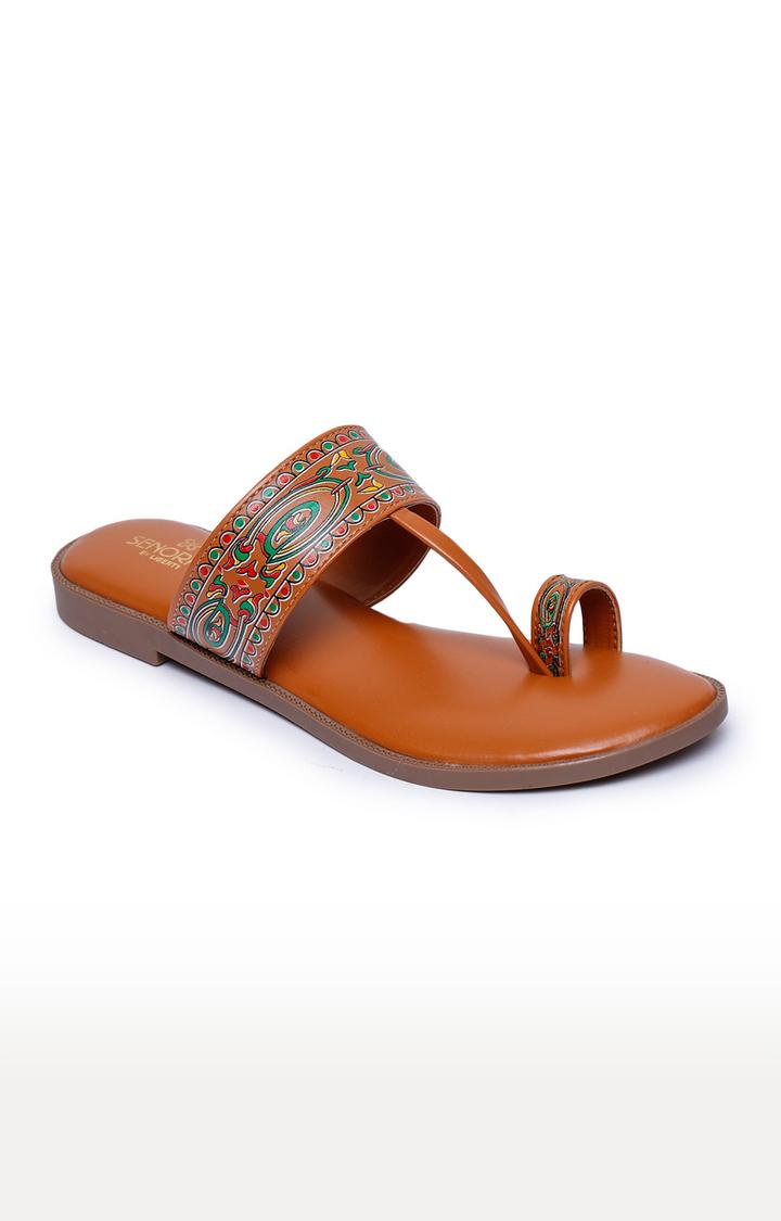 Liberty | Senorita by Liberty Tan Ethnic Sandals