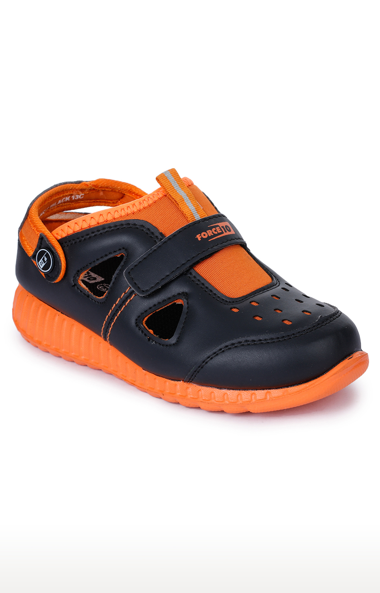 Liberty | Force 10 by Liberty Black and Orange Sandals