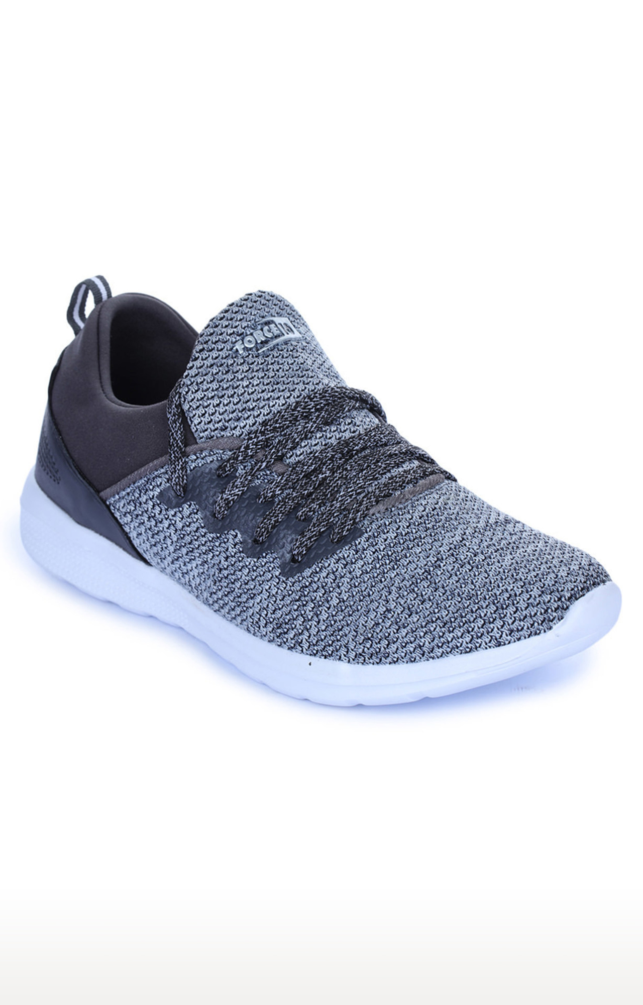 Liberty | Force 10 by Liberty Grey Lace-up Sports Shoes