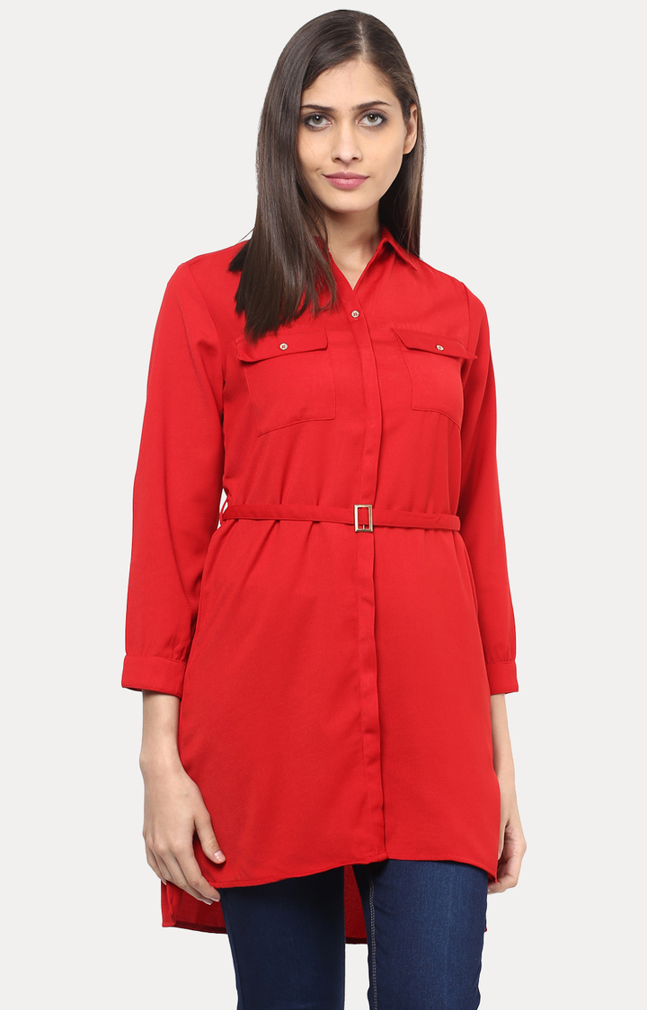 109F | Red Solid Tunic