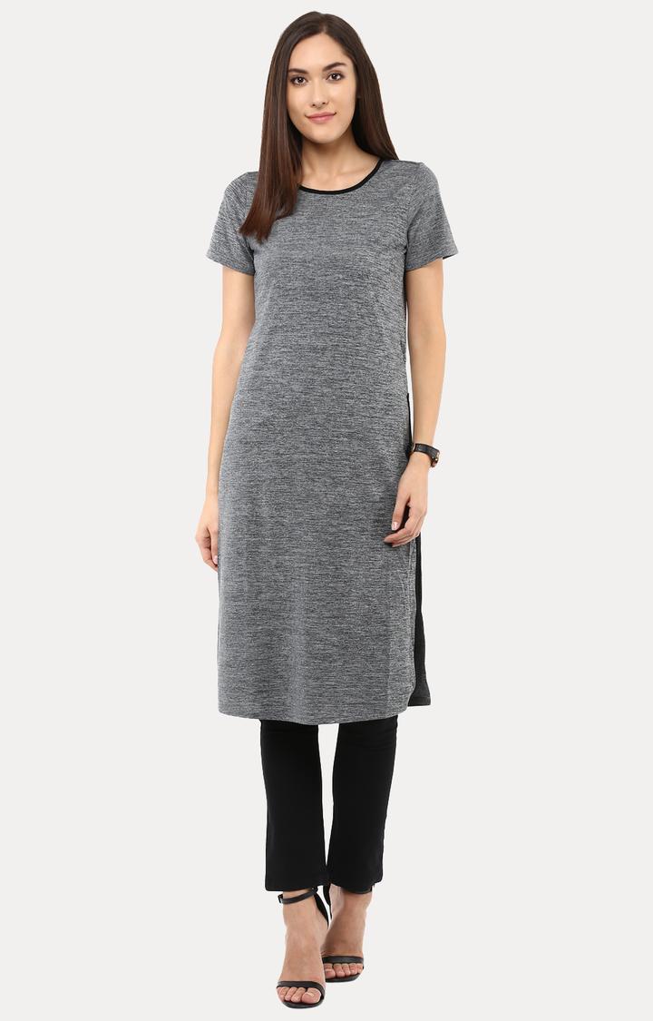 109F | Grey Melange Tunic