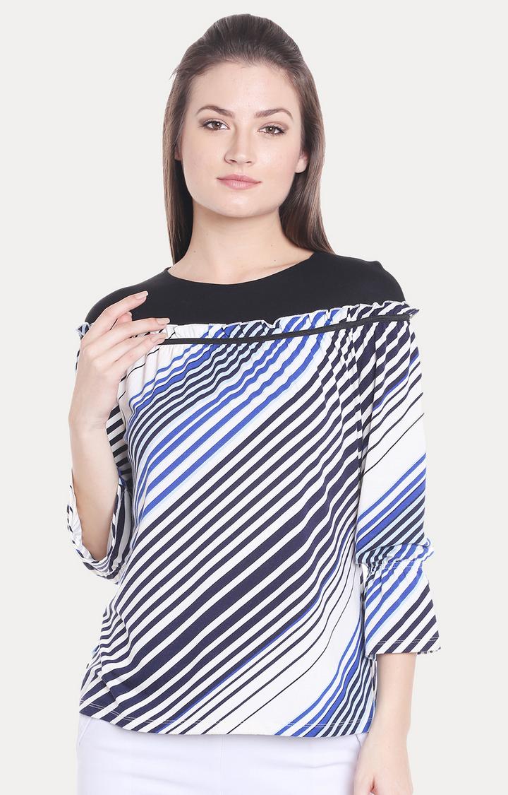 109F | Multicoloured Striped Top