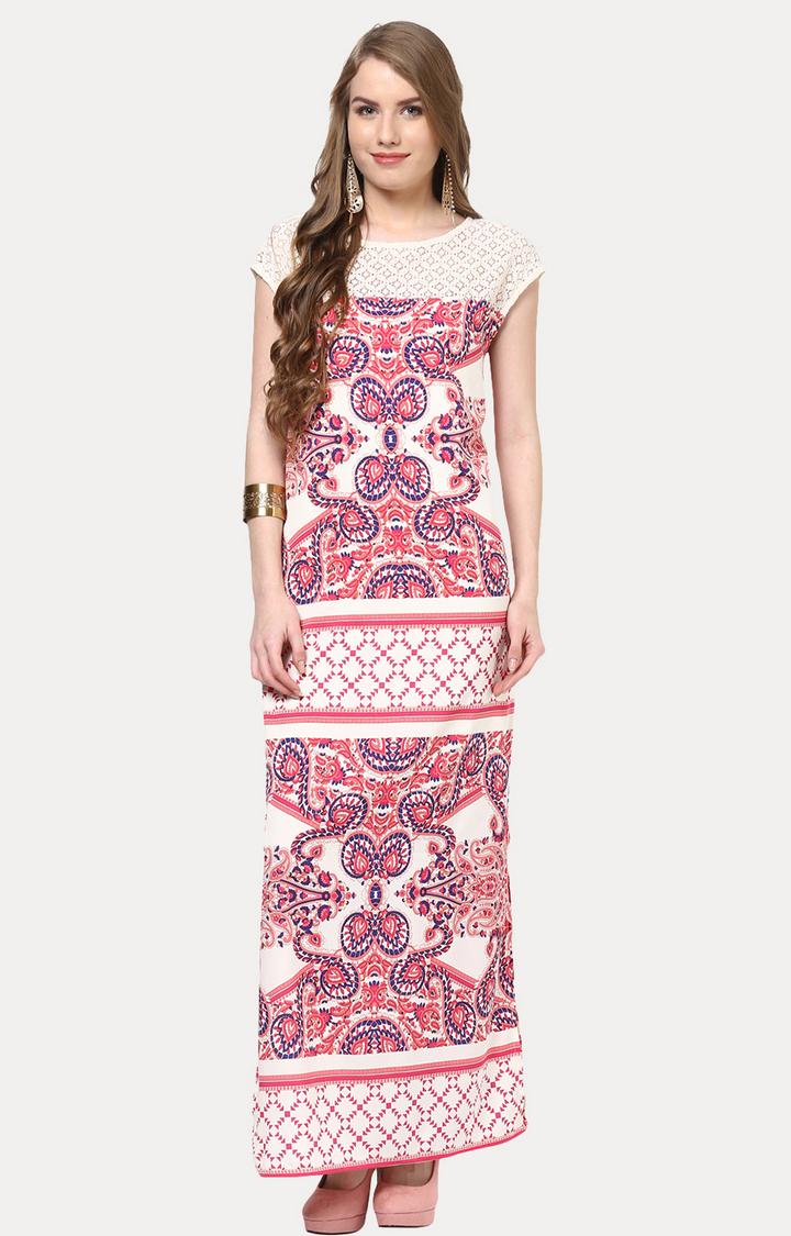 109F | Multicoloured Printed Maxi Dress