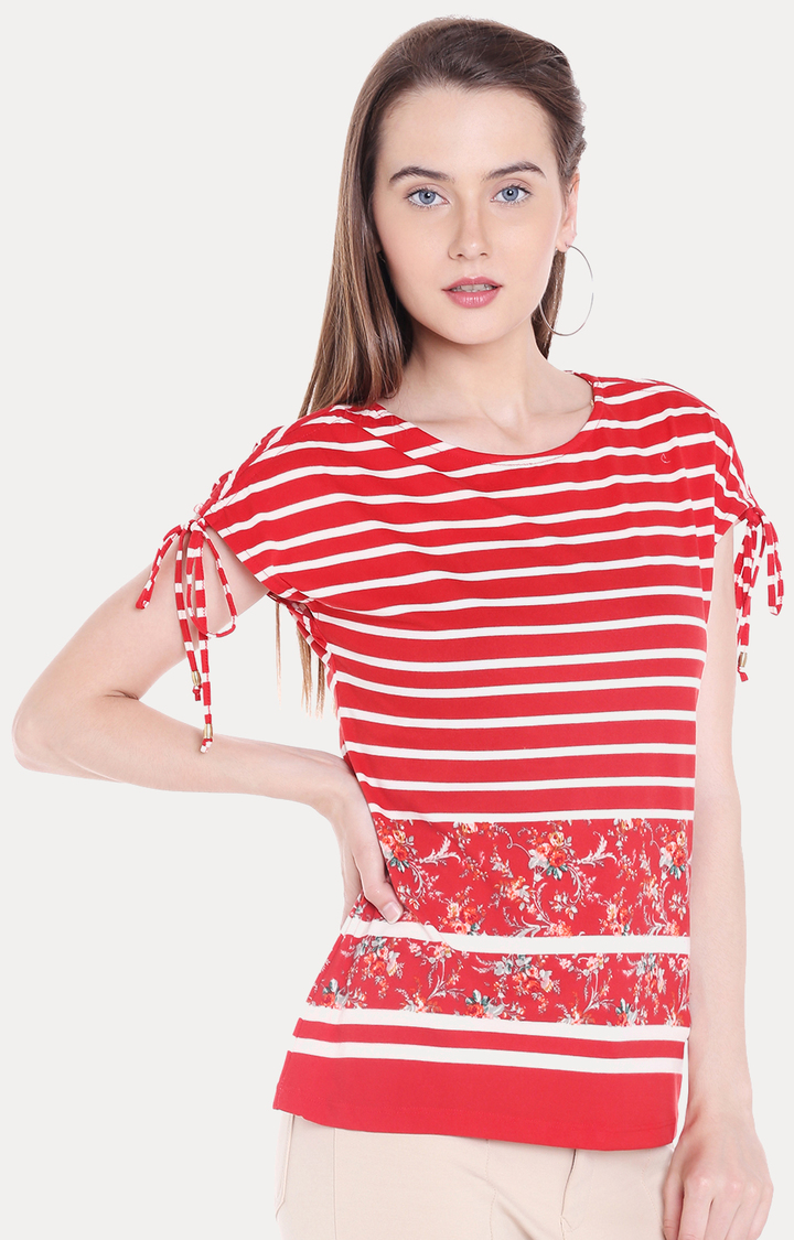 109F | Red Striped Top