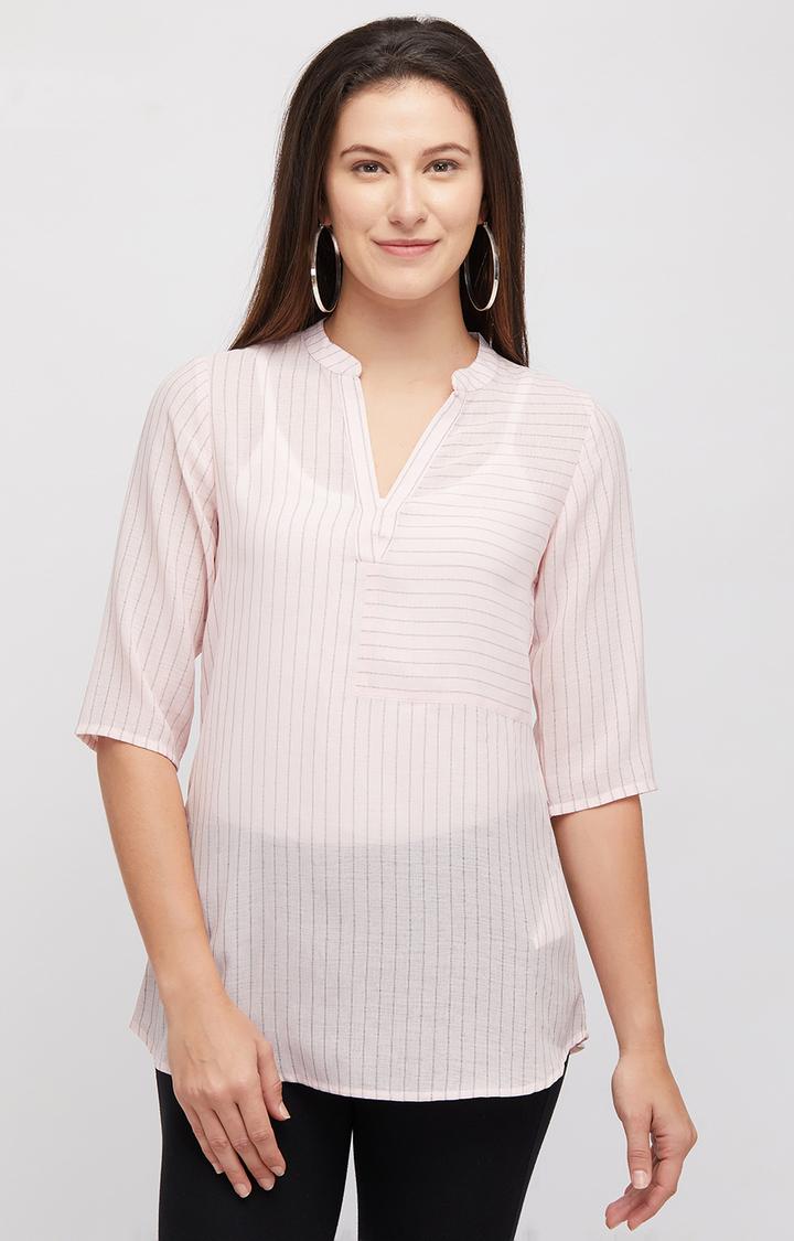 109F   Pink Striped Top