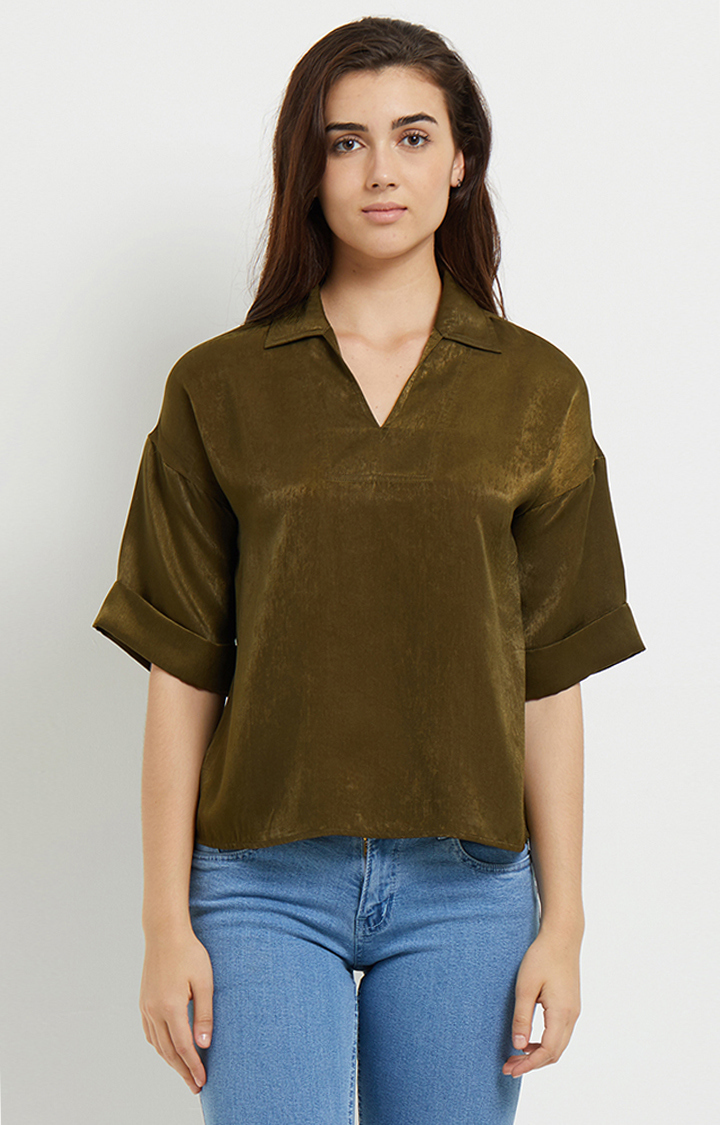 109F   Olive Solid Top