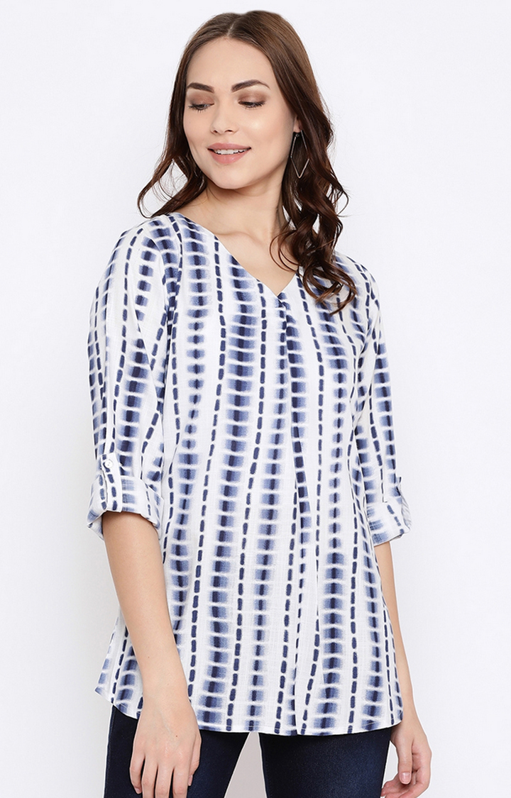 METTLE   White Printed Top