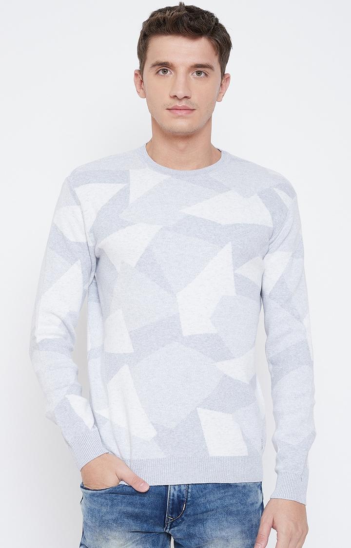 METTLE | Grey Printed Sweatshirt