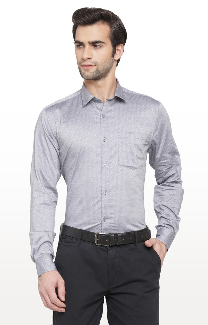 Cape Canary | Grey Printed Cotton Casual Shirt