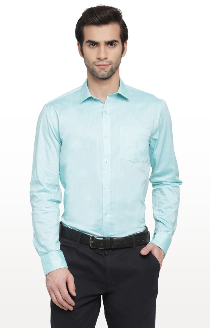 Cape Canary   Green Printed Cotton Casual Shirt