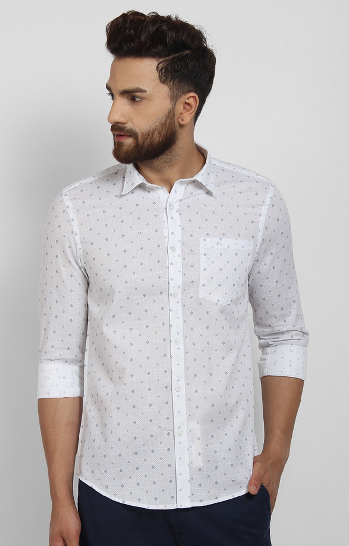 Cape Canary   White Printed Casual Shirt