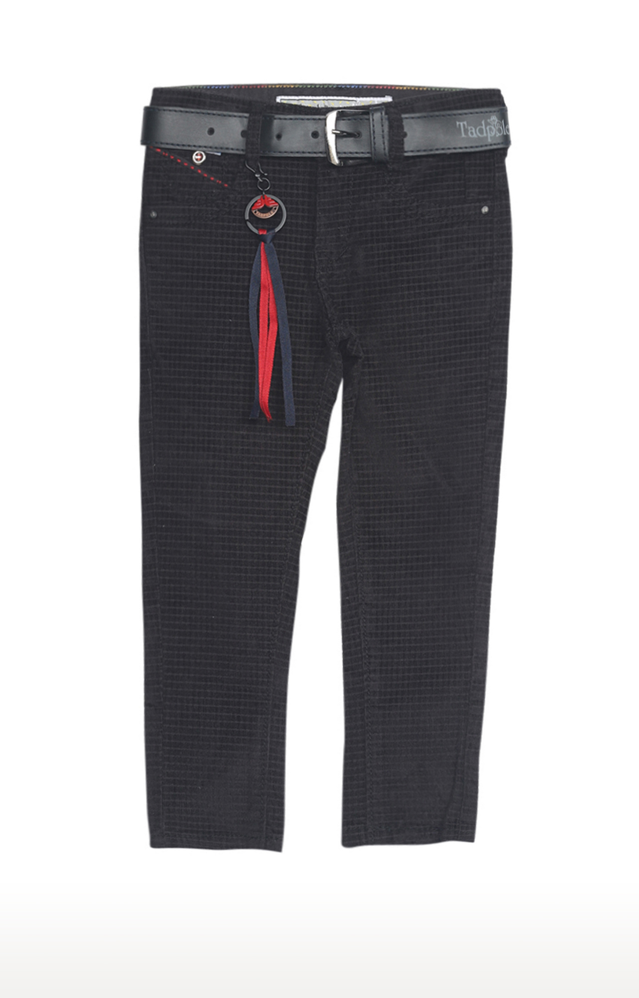 Tadpole | Black Checked Regular-Fit Jeans