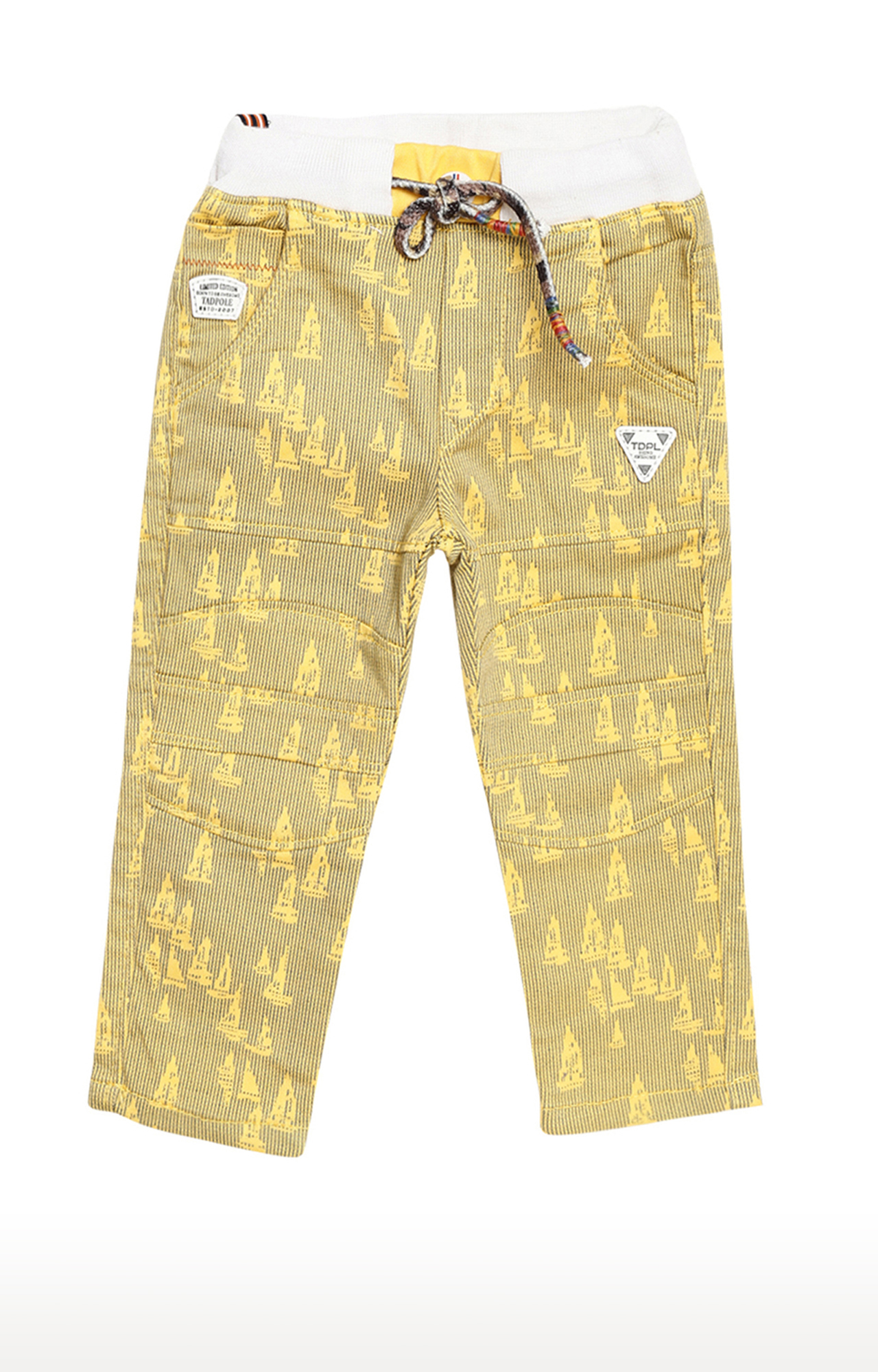 Tadpole | Yellow Printed Trousers