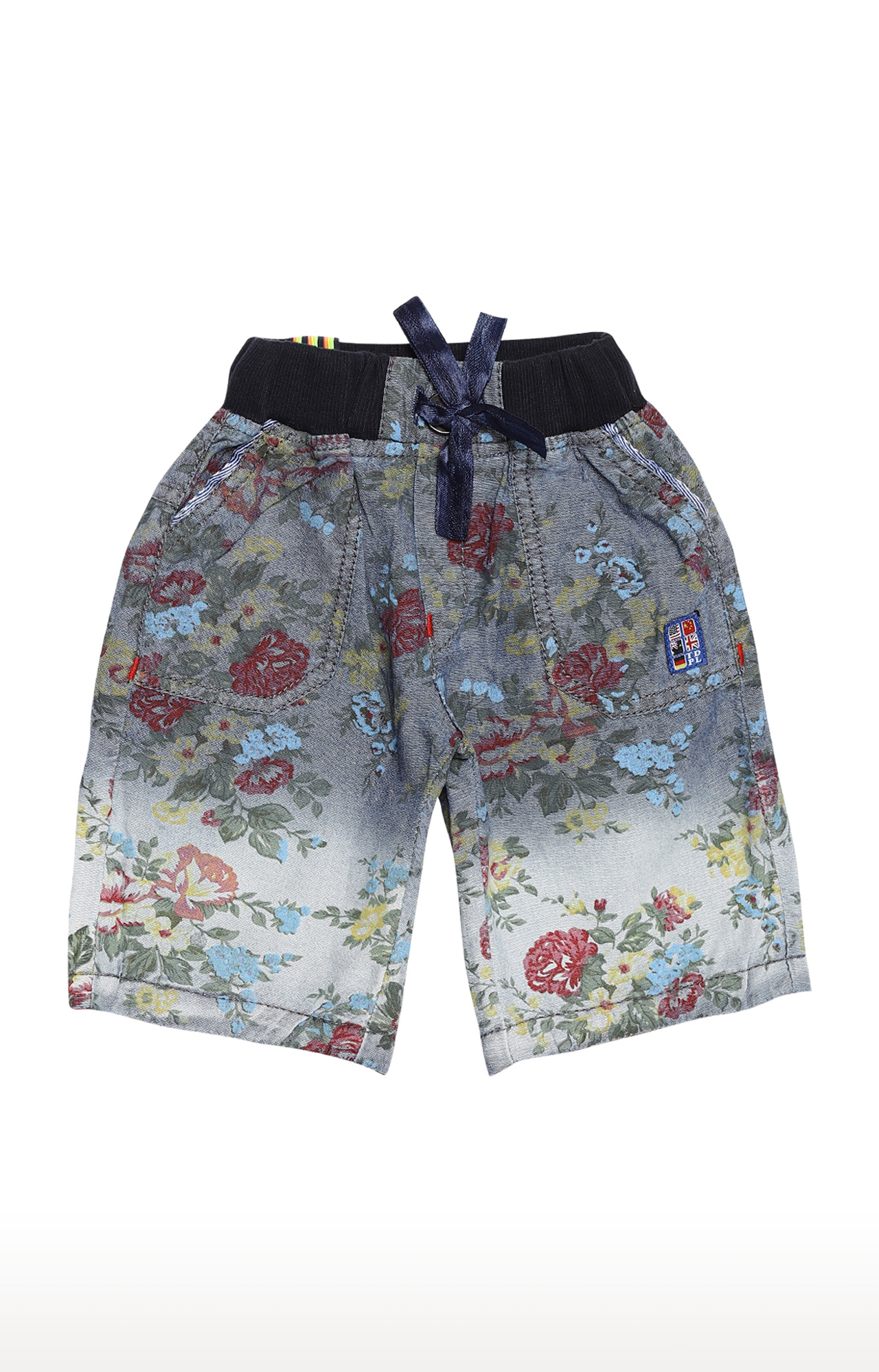 Tadpole | Blue Printed Casual Shorts