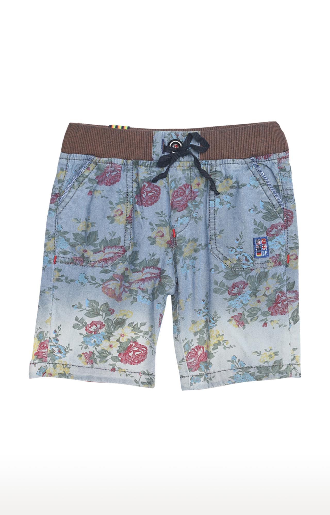 Tadpole   Blue Printed Casual Shorts