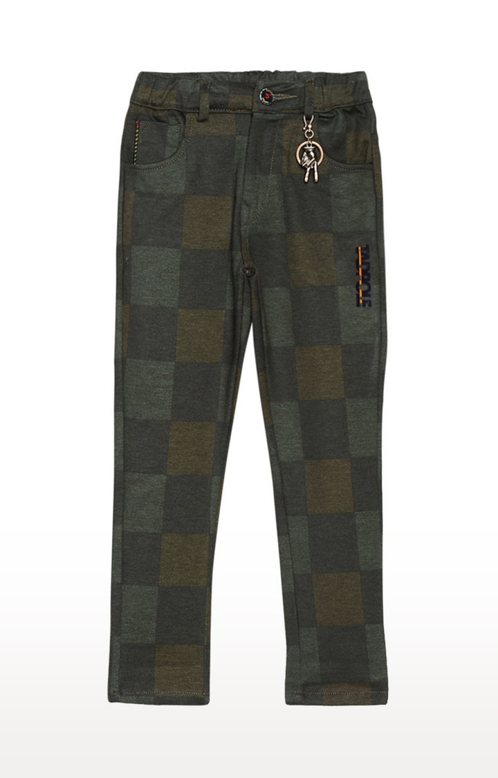 Tadpole | Green Checked Jeans