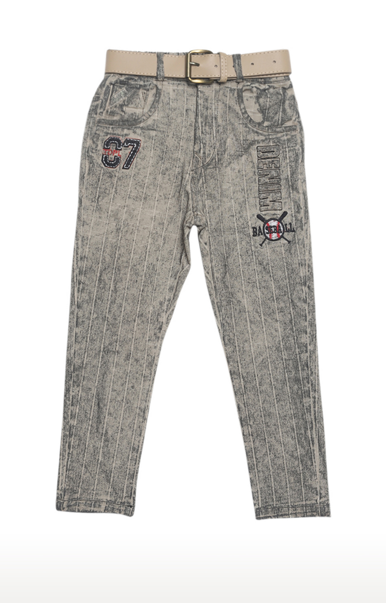 Tadpole   Grey Checked Regular-Fit Jeans
