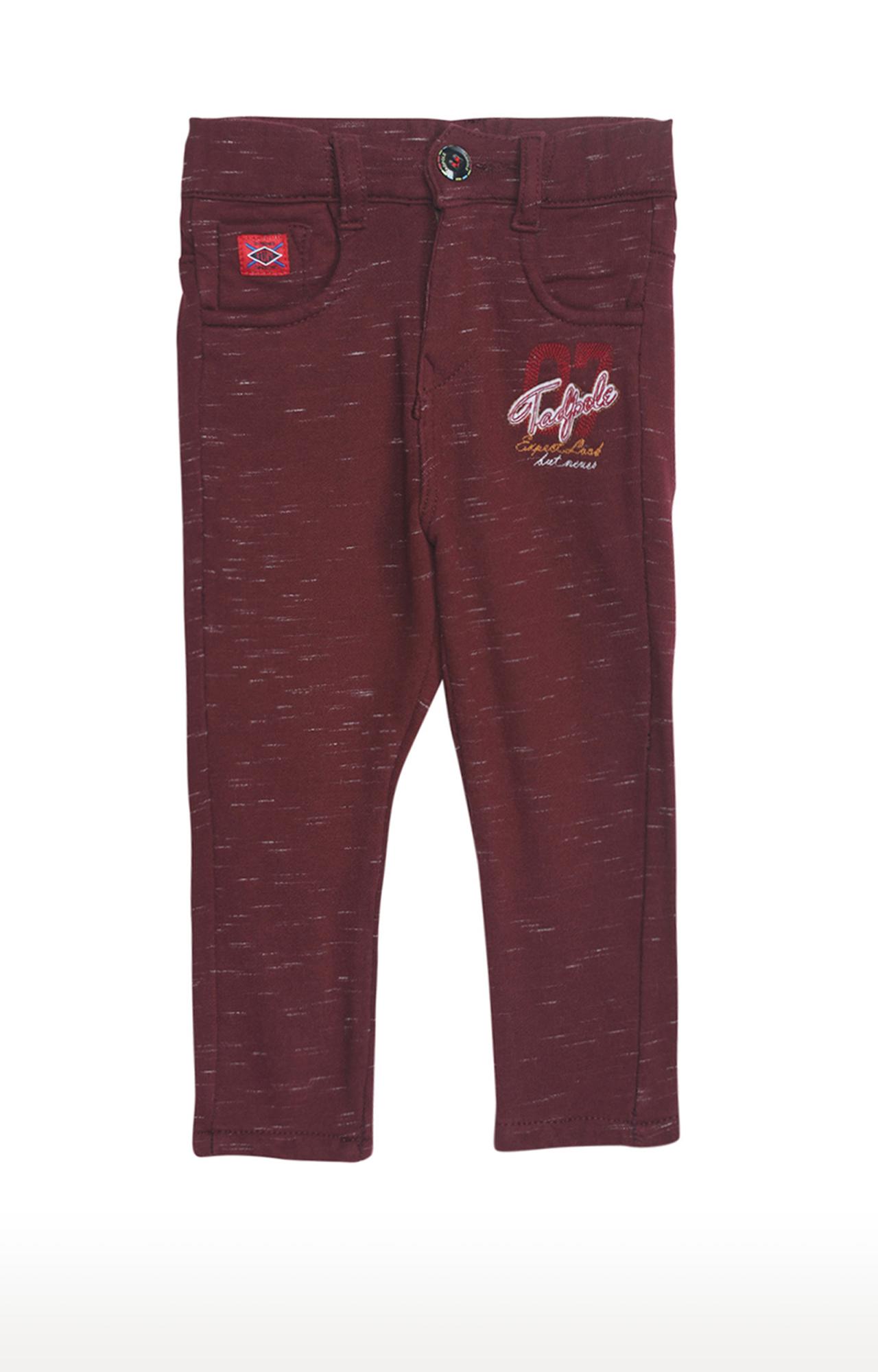 Tadpole | Maroon Melange Trousers