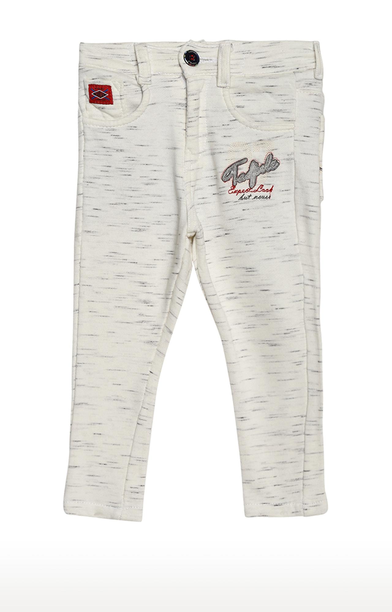 Tadpole | White Melange Trousers