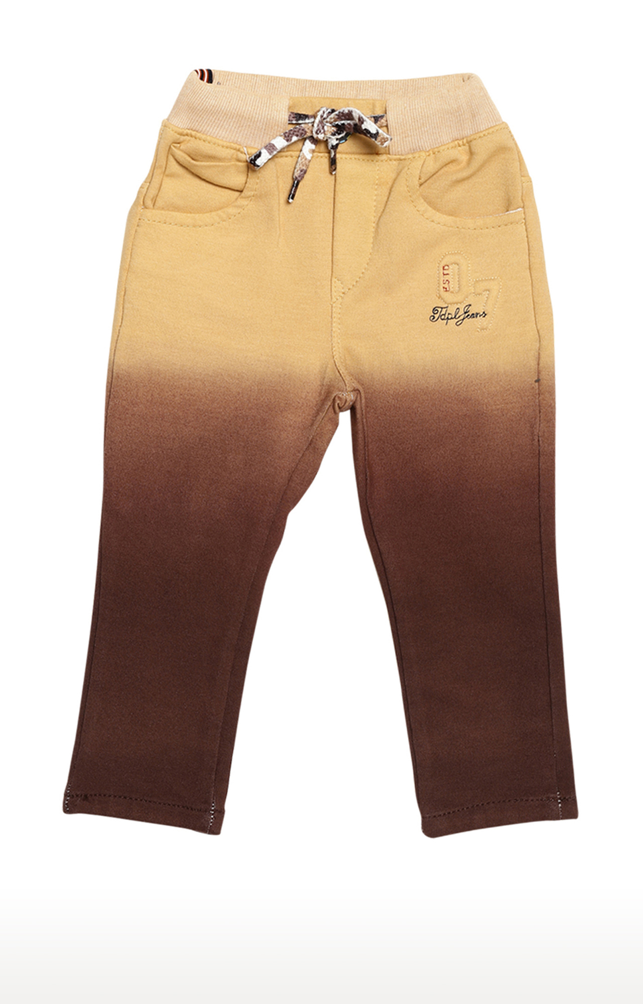 Tadpole | Brown and Yellow Colourblock Trousers