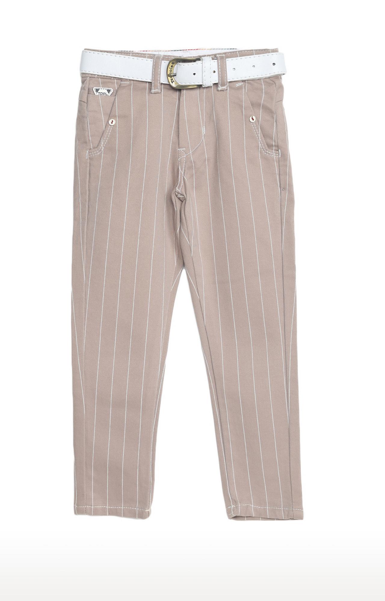 Tadpole | Beige Striped Regular-Fit Jeans
