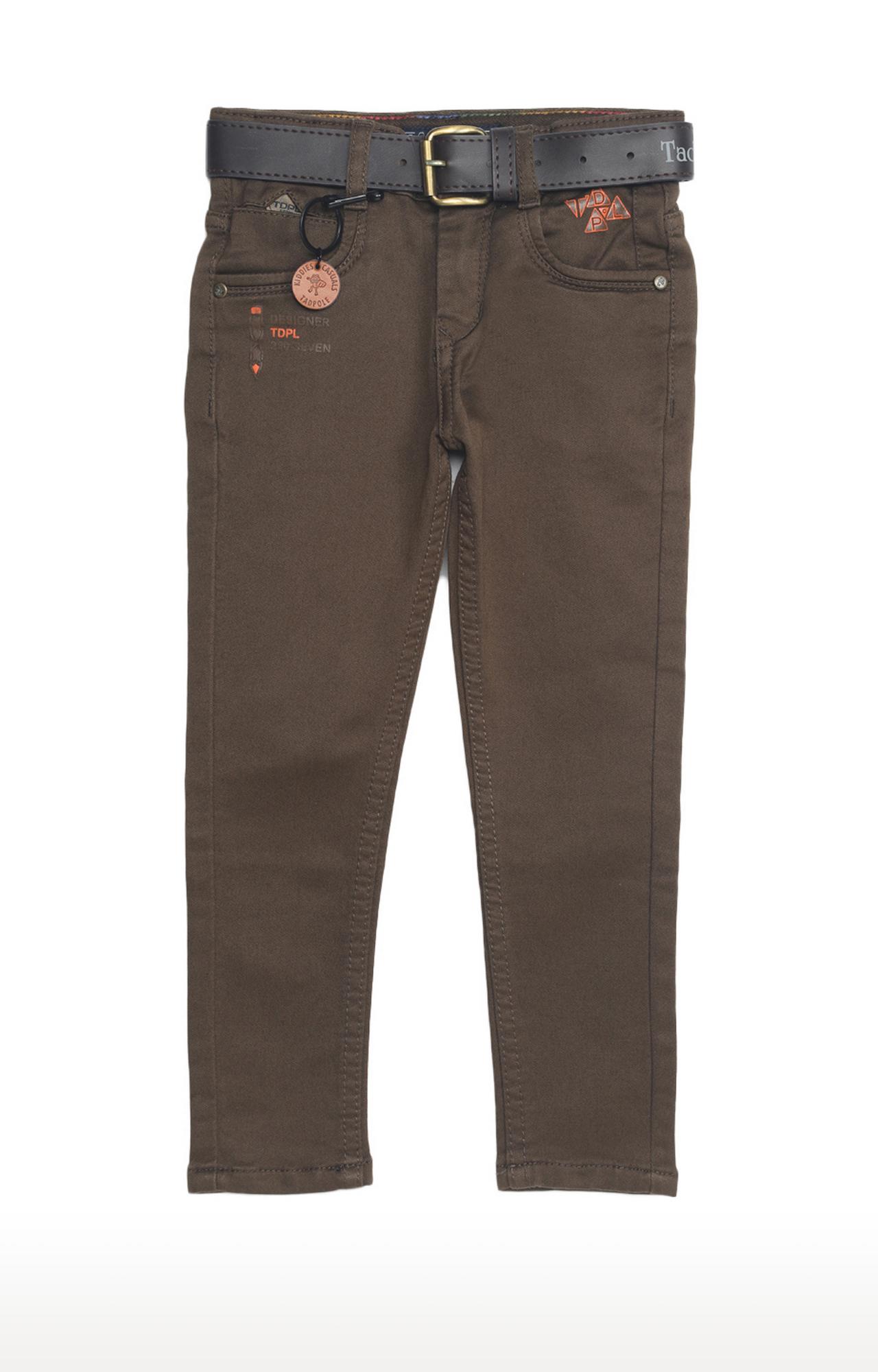 Tadpole | Olive Solid Regular-Fit Jeans
