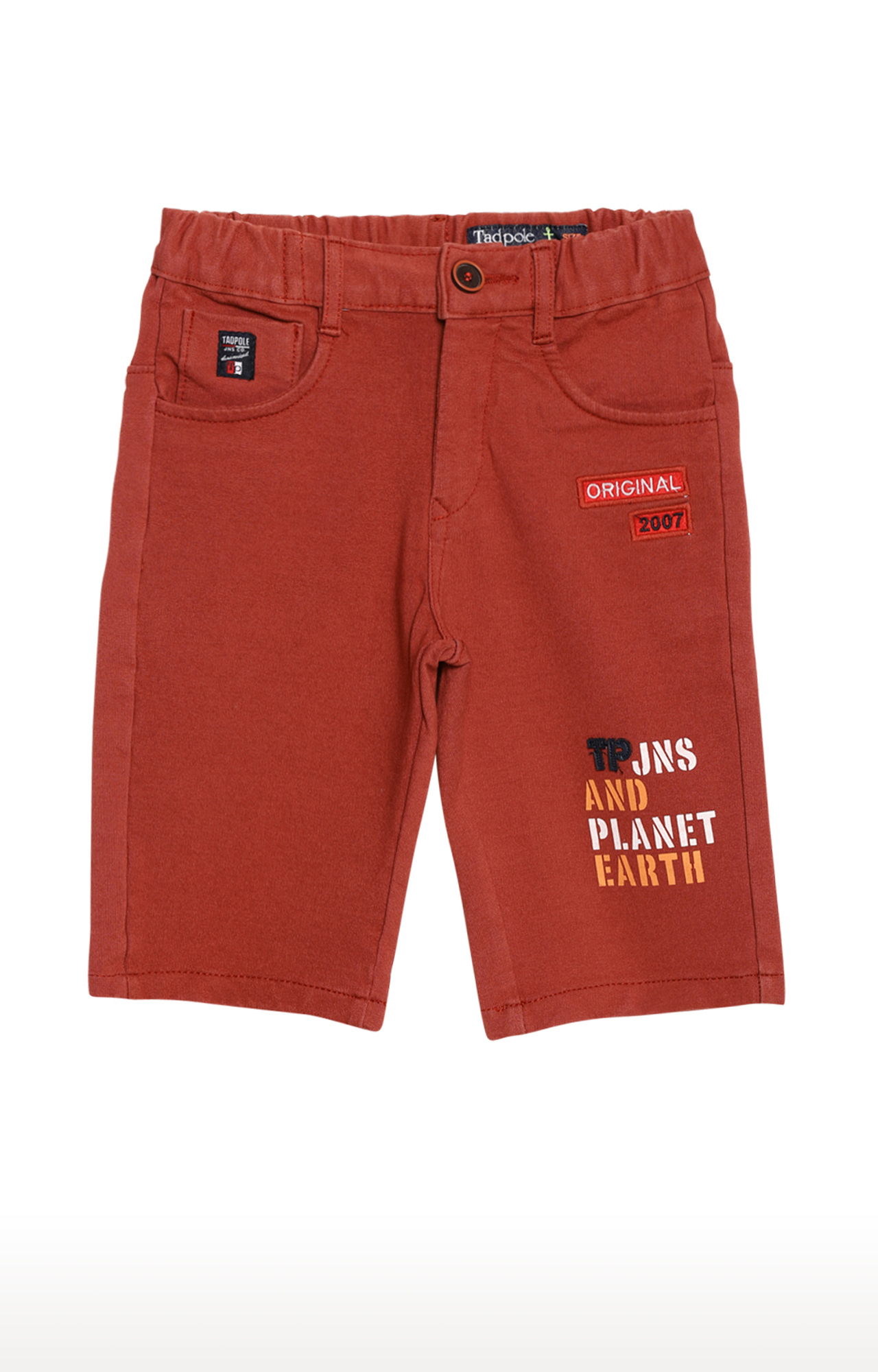 Tadpole | Brown Solid Casual Shorts