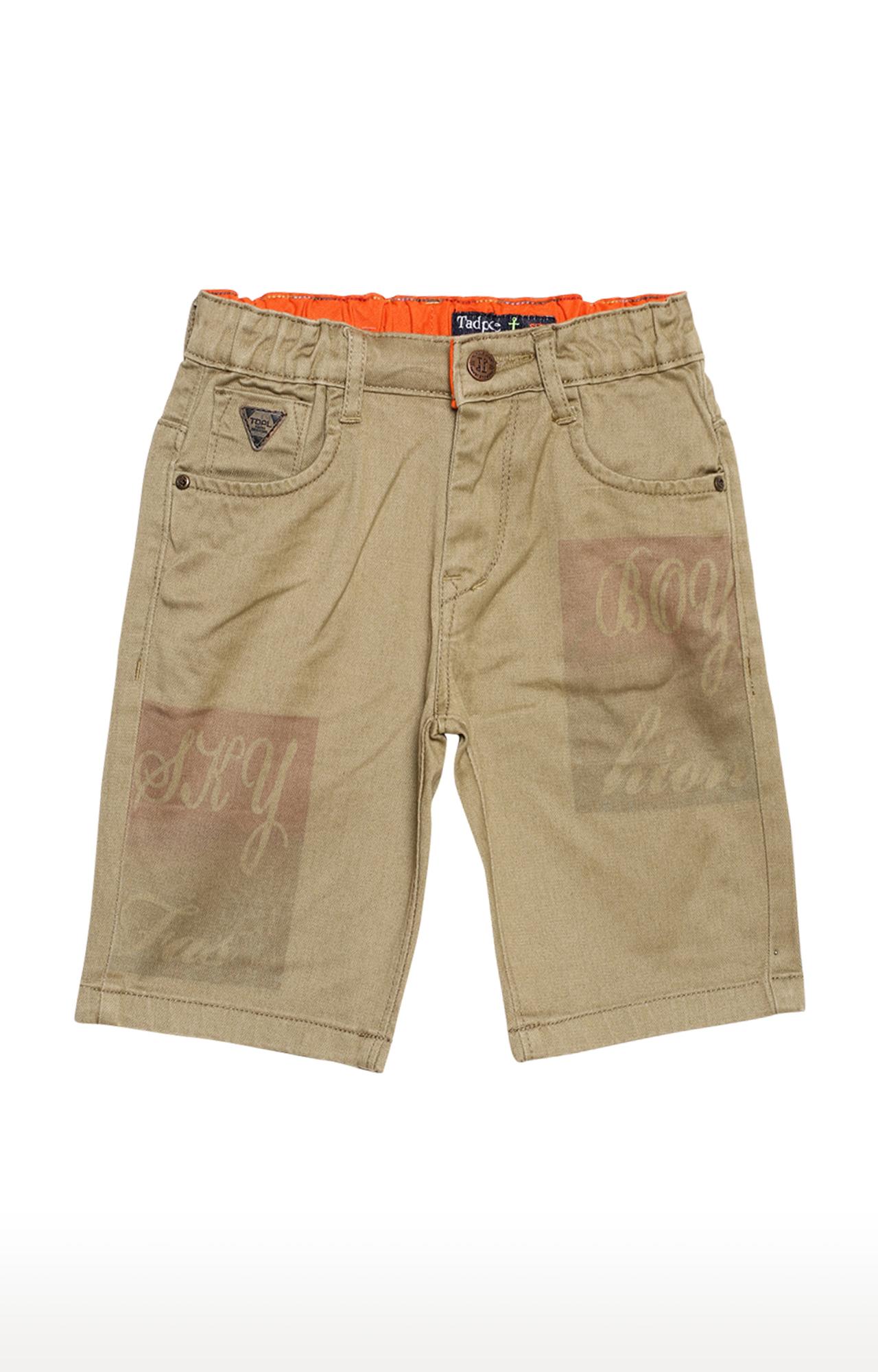 Tadpole | Khaki Printed Casual Shorts